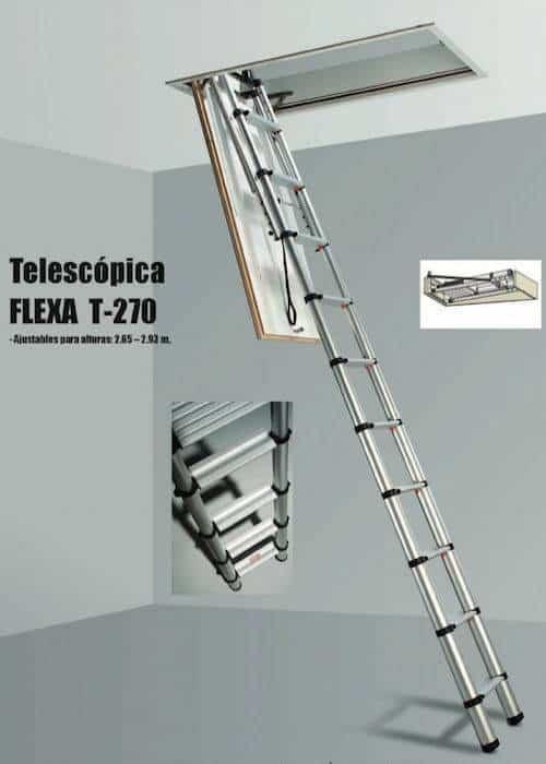 Escalera plegable telesc pica t 270 - Escaleras metalicas plegables ...