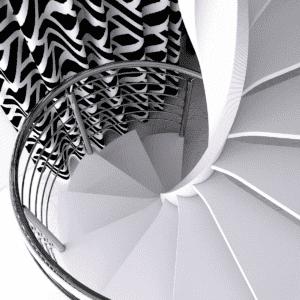 Escalera de caracol serie E20 en Milán | Enesca.es