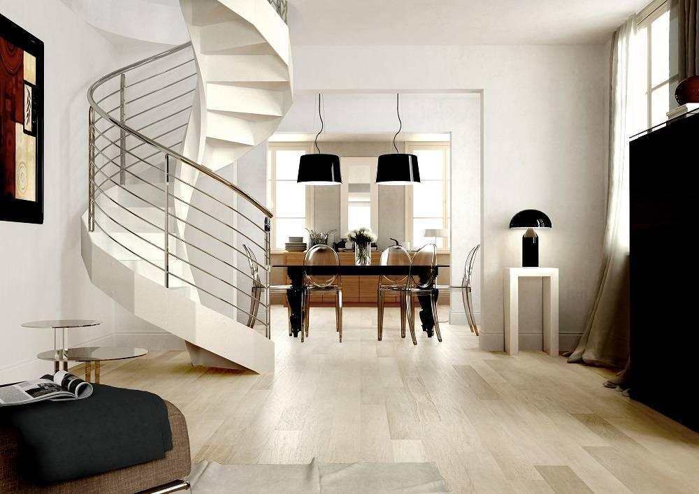Tipos de escaleras de caracol