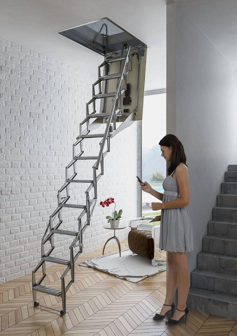 Tipos de escaleras escamoteables