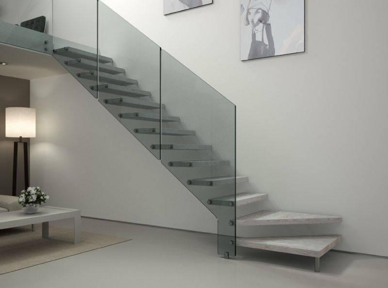Barandas y escaleras de cristal para más luz y espacio