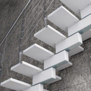 escaleras helicoidales de madera