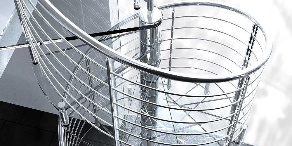 Escaleras originales de caracol INOX | Enesca.es