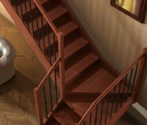 mantenimiento y limpieza de escaleras de madera