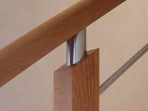 Pasamanos de madera para barandillas mixtas