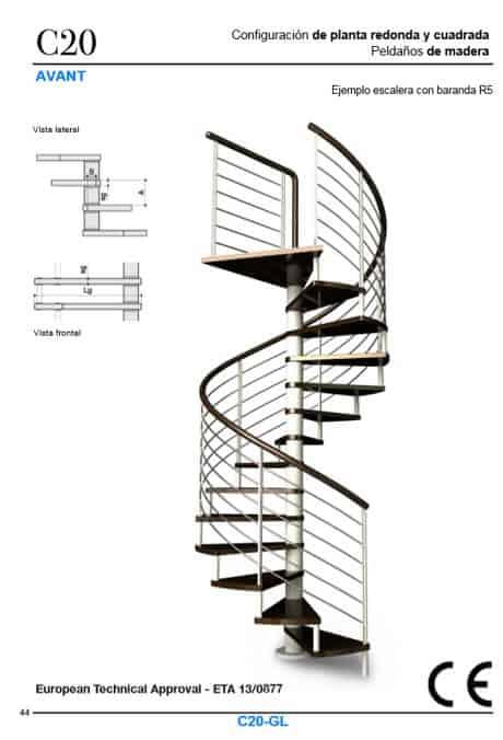 Escaleras de caracol con certificado CE