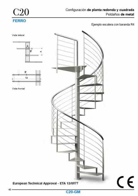 Escaleras metálicas con certificado CE