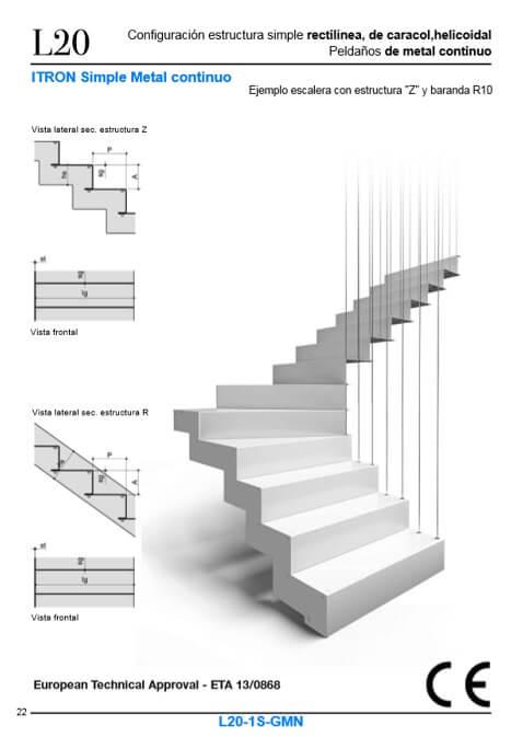 Escaleras de metal Enesca con certificado CE