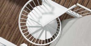 Escaleras de caracol y helicoidales para proyectos | Enesca.es