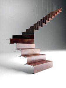 Escalera de diseño de tramos de chapa de Enesca.es