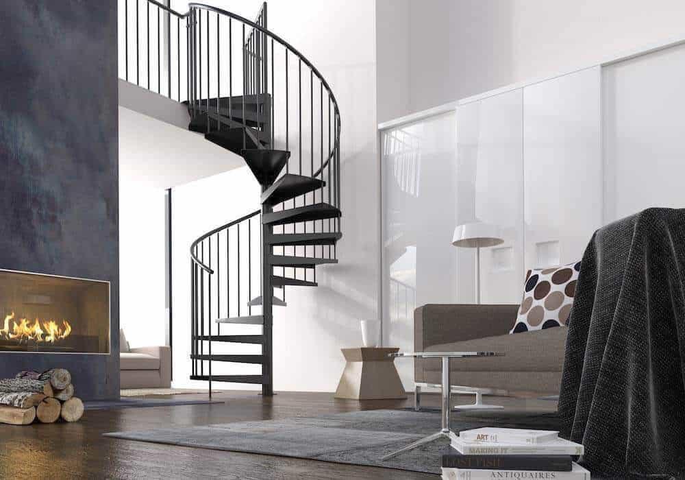 Escalera de caracol de interior