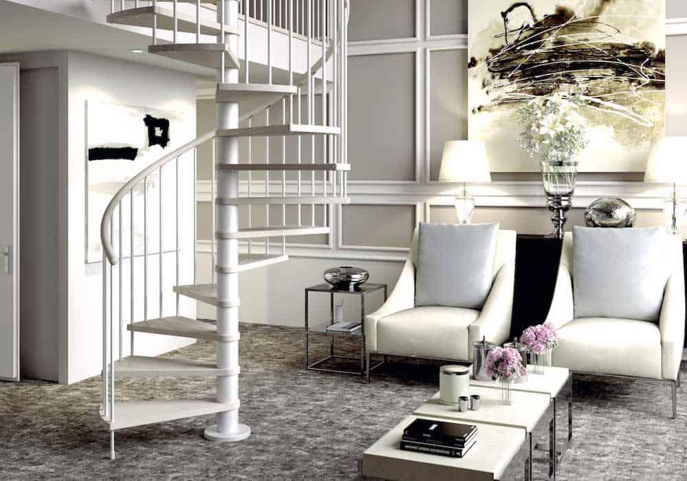 Escaleras de caracol elegancia dise o y seguridad for Gradas metalicas para interiores