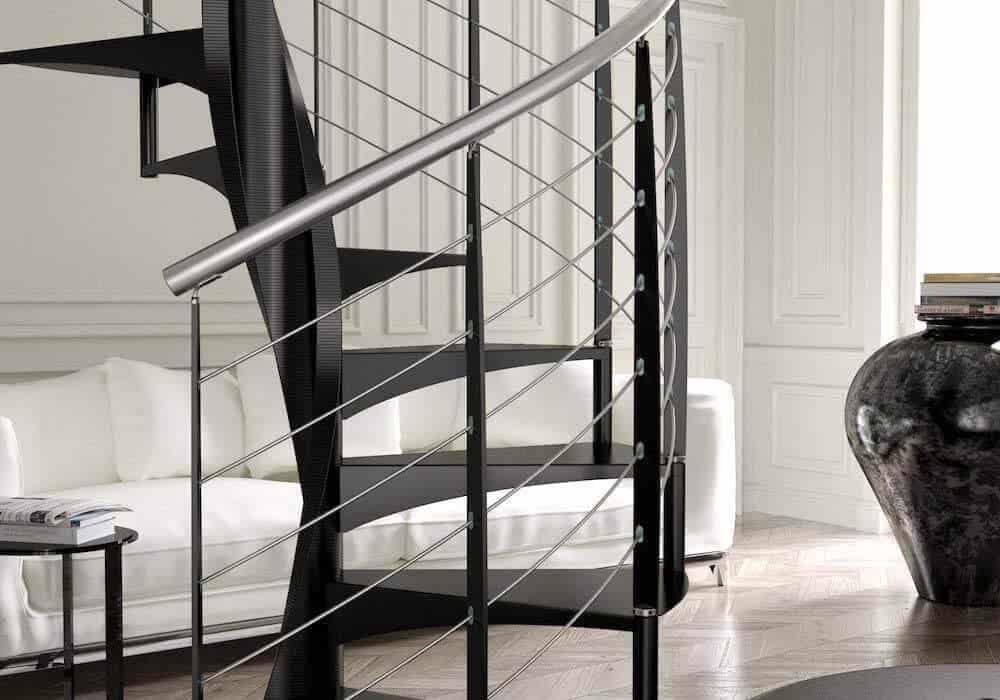 Escalera de caracol modelo e20 metal - Barandillas de escaleras interiores ...