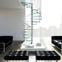Escalera de caracol modelo Inox