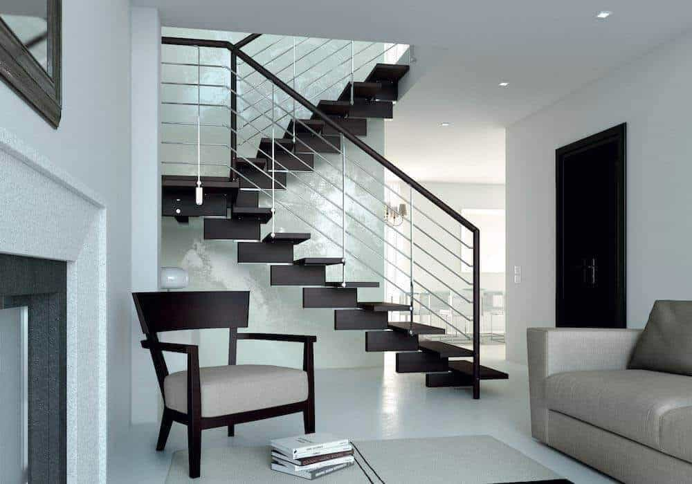 Precios barandillas de madera great barandilla de cristal for Escaleras de madera interior precio