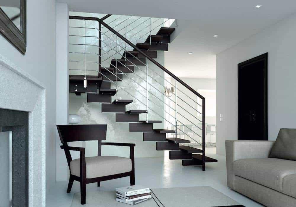 Barandillas modernas para escaleras barandilla de acero for Modelos de escaleras modernas