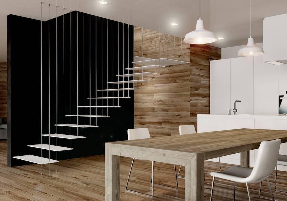 Escalera de tramos glam laser a ade valor a tu hogar - Modelos de escaleras interiores ...