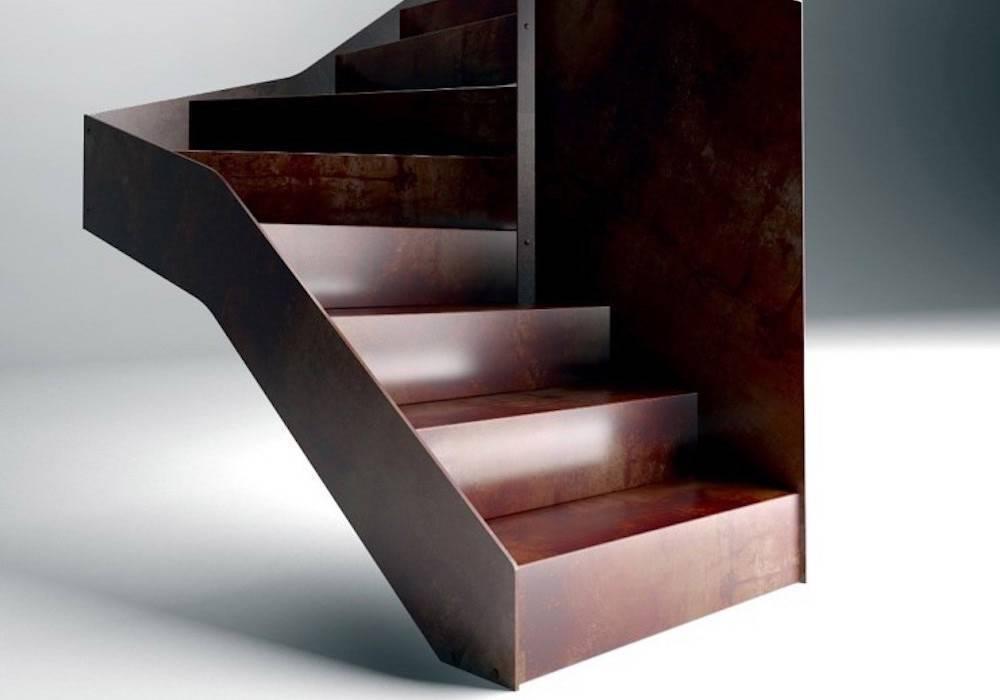 Escalera de tramos Itron Laser con peldaños de metal continuo