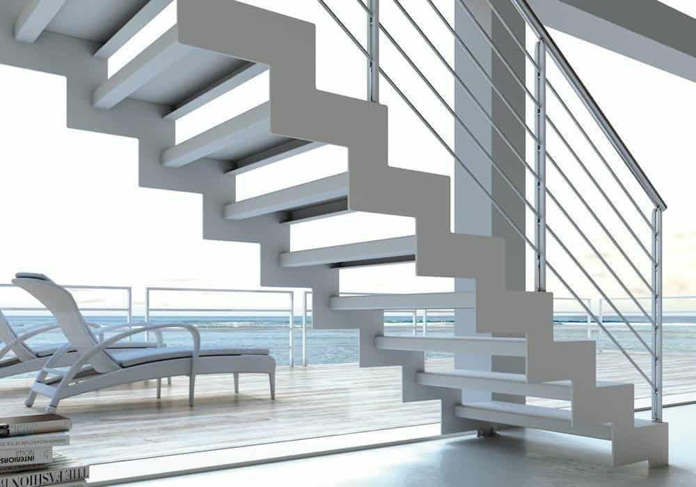 Escalera de tramos itron metal funcionalidad y dise o - Estructura de metal ...