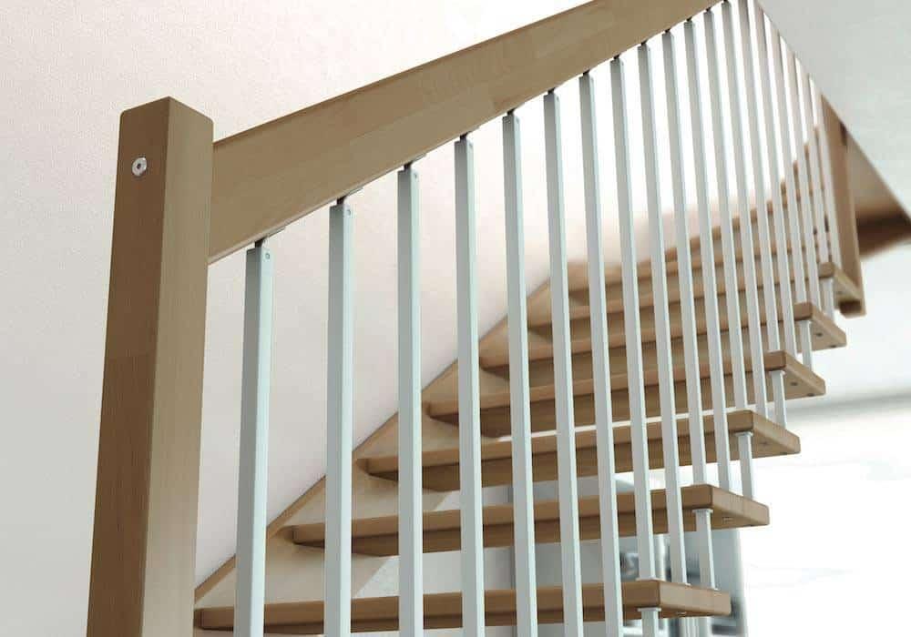 Escalera de tramos modelo livia - Barandillas madera ...