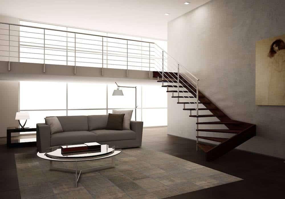 Modelos de escaleras de madera escalera madera modelo en u de alturas otros casa hogar finest - Modelos de escaleras interiores ...