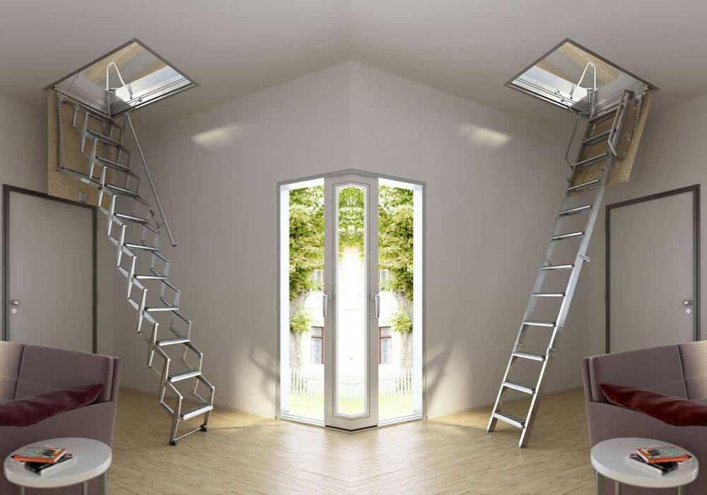 Imágenes de Escaleras escamoteables rectas - Enesca.es