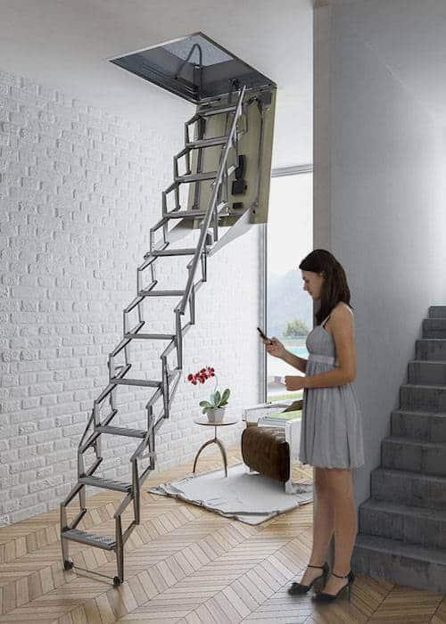 Escalera plegable para techo flexa autom tica 300 - Escaleras de techo ...