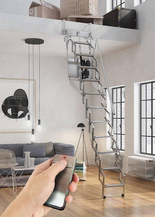 Escalera plegable para techo flexa altillo autom tica - Escalera plegable altillo ...