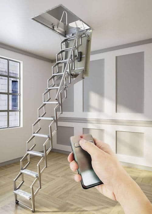 Escalera plegable para techo flexa autom tica vip 300 for Escaleras para buhardillas plegables