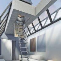 Escalera plegable para salida a terraza Flexa Terraza
