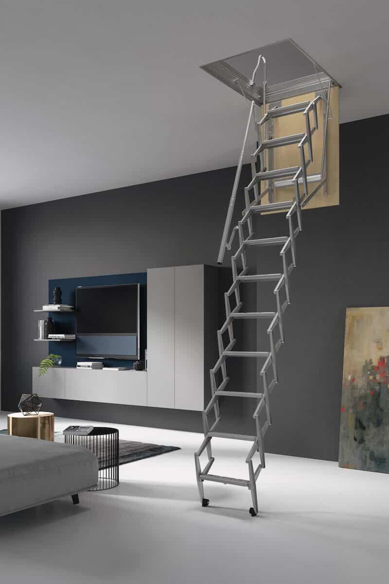 Escalera plegable para techo flexa 270 - Escaleras plegables techo ...