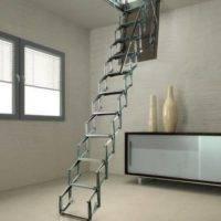 Flexa-S Escalera plegable para techo tipo tijera