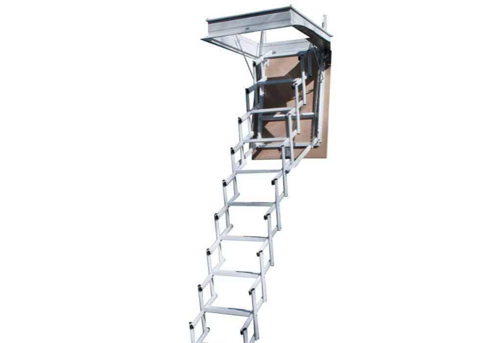 Elegant escalera plegable tipo tijera para techo - Escaleras para buhardillas plegables ...