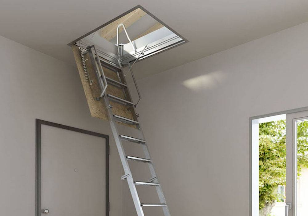 Imágenes de Escalera escamoteable serie Tramo para techo