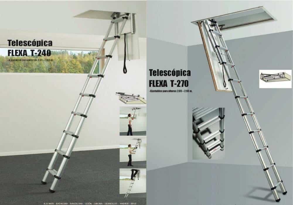 Imágenes de Escalera plegable tipo telescópica serie T240-T270