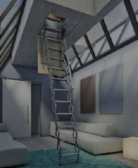 Fotos de escaleras de buhardilla