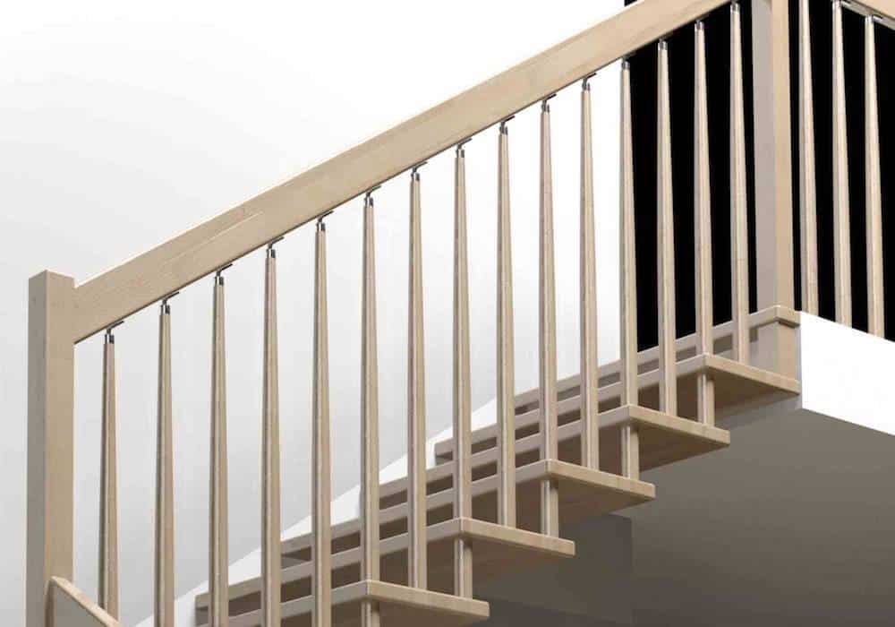 Barandillas de madera para interiores de haya - Enesca.es