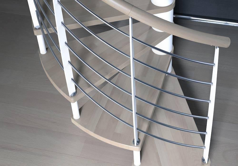 Barandillas de metal para escaleras de caracol - Enesca.es
