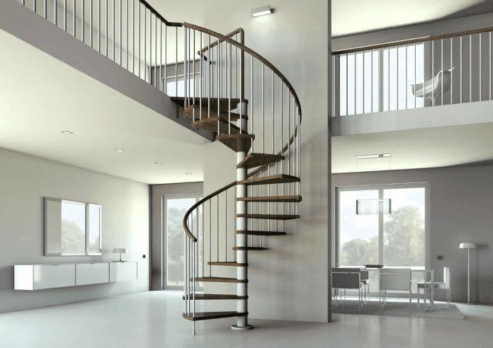 Imágenes de Escaleras de caracol de madera en Kit modelo Kubo