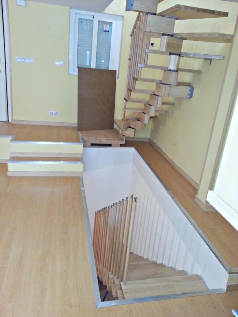 Escalera de Madera Doxa Wood 2 Orcasitas - Enesca.es