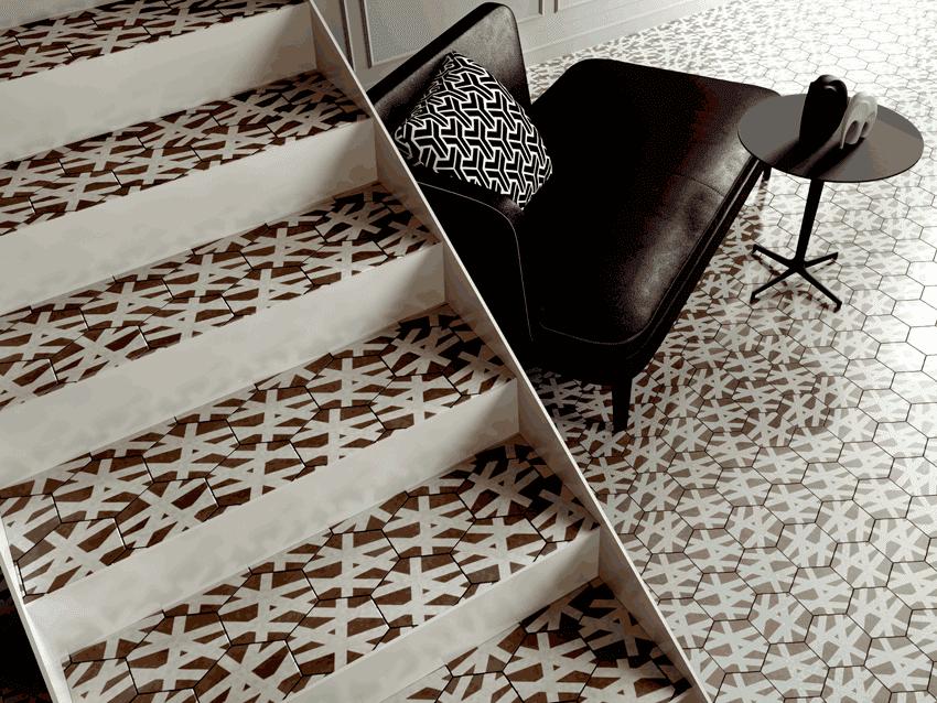 Escalera Itron Cubeta de diseño metálica de Enesca.es