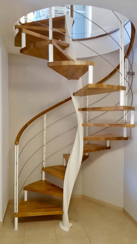 Escalera de caracol de madera | Enesca.es