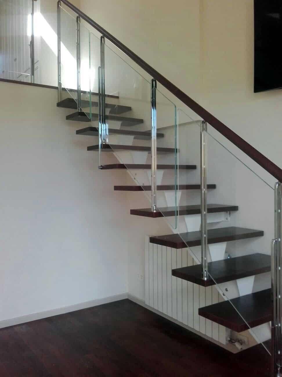 Baranda de Cristal para escalera recta