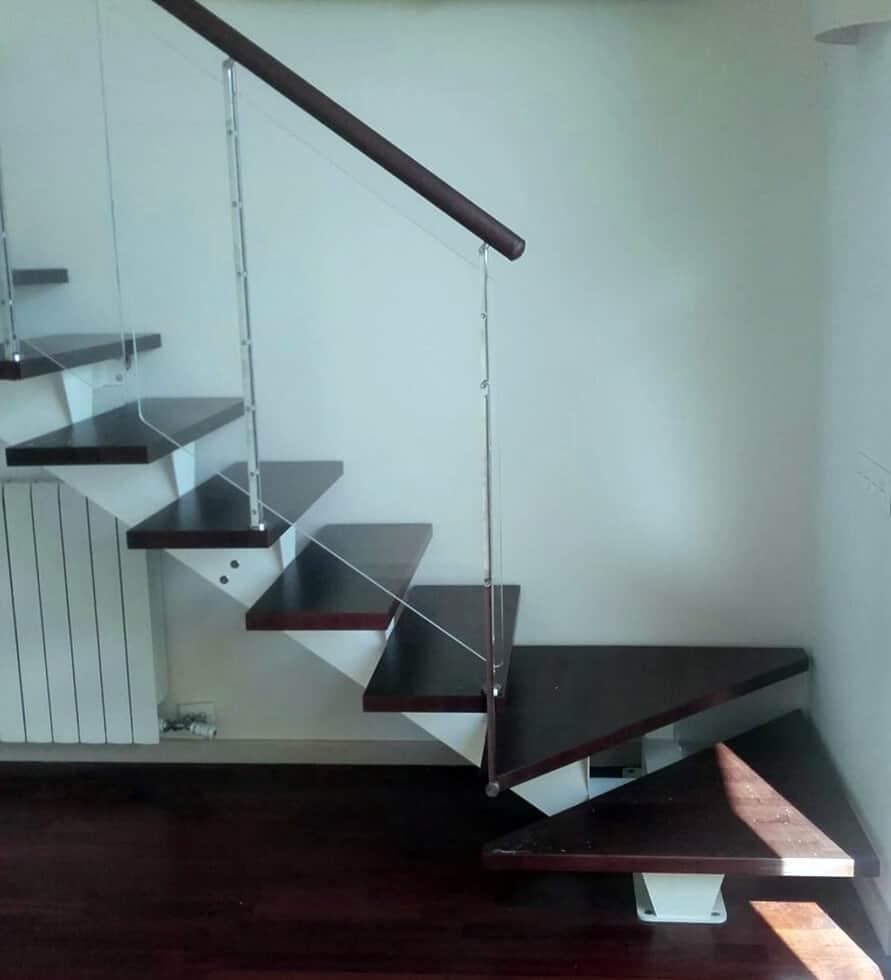 Barandilla de Cristal para escalera de tramo