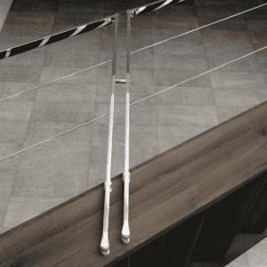 Barandillas de acero inoxidable para escaleras de interior R7 | Enesca.es