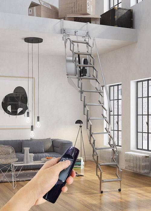 Escalera plegable para techo Flexa Altillo Automática