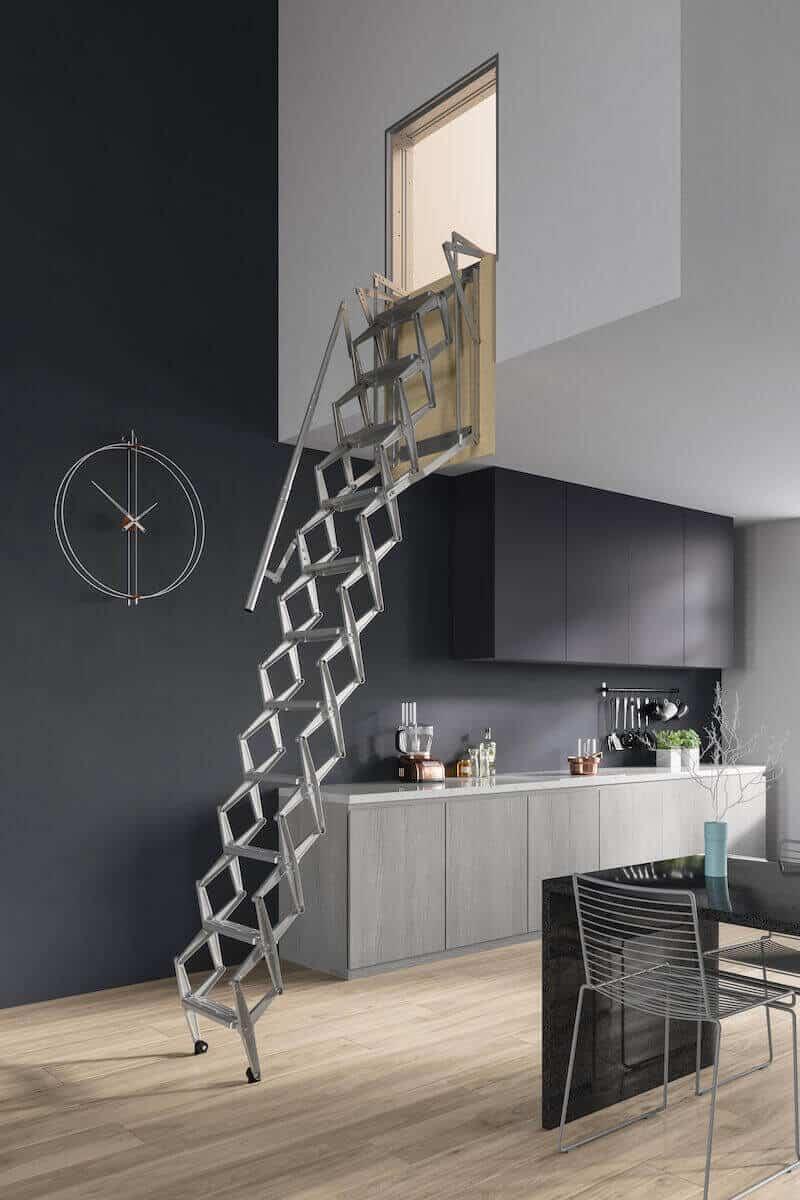 Escaleras escamoteables Flexa Pared de Enesca.es