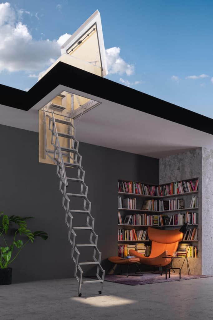 escalera desmontable para terrazas