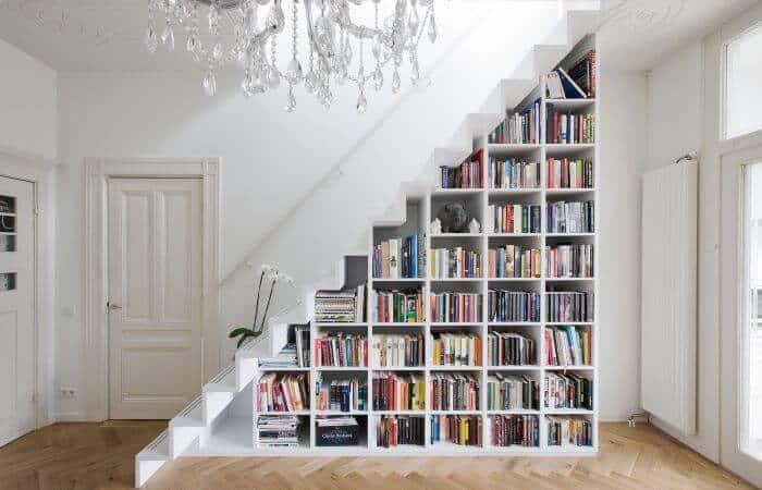 almacenamiento en escaleras